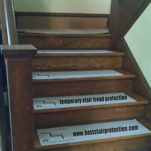 Best Temporary Stair Tread Protection Pads Hardwood Stairs 400 x 300