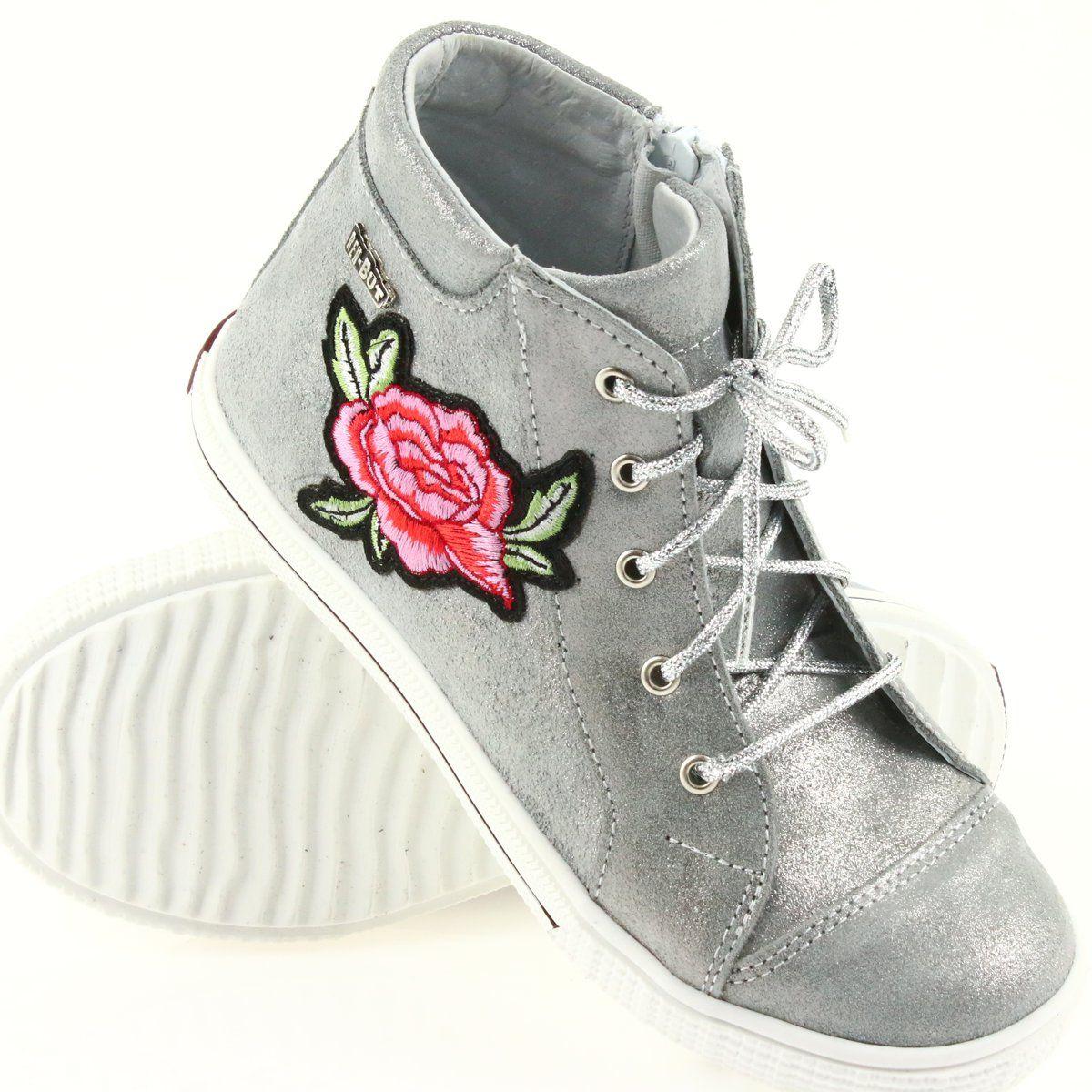 Trzewiki Buty Dziewczece Srebrne Ren But 4279 Srebrny High Top Sneakers Converse High Top Sneaker Chucks Converse