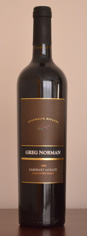 2008 Greg Norman Cabernet Merlot From Limestone Coast Cabernet Merlot Wine Bottle Cabernet