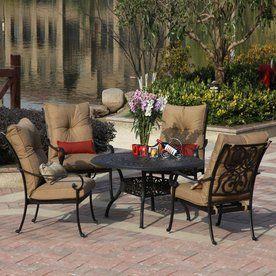 Darlee Santa Anita 5 Piece Antique Bronze Aluminum Patio Dining Set  Atg7178757
