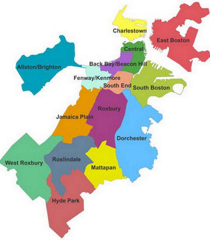 map of neighborhoods in boston Image Result For Boston Neighborhood Map Boston Neighborhoods map of neighborhoods in boston