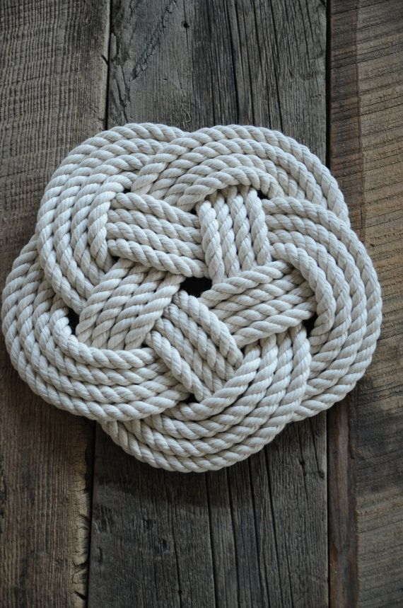 Cotton Rope Trivet Nautical Decor Rope Hot Pad Cotton Rope Nautical Gift Tying The Knot Ceremony Gifts Free Shipping Nautical Nautical Kitchen Nautical Decor Cotton Rope