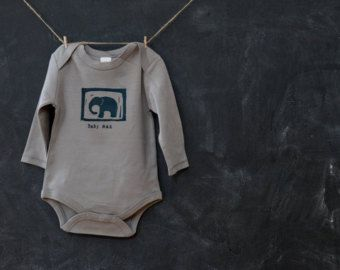 Custom baby onesie little elephant one piece personalized items similar to custom baby onesie little elephant one piece personalized organic onesie custom baby name block printed onesie new baby gift on negle Image collections