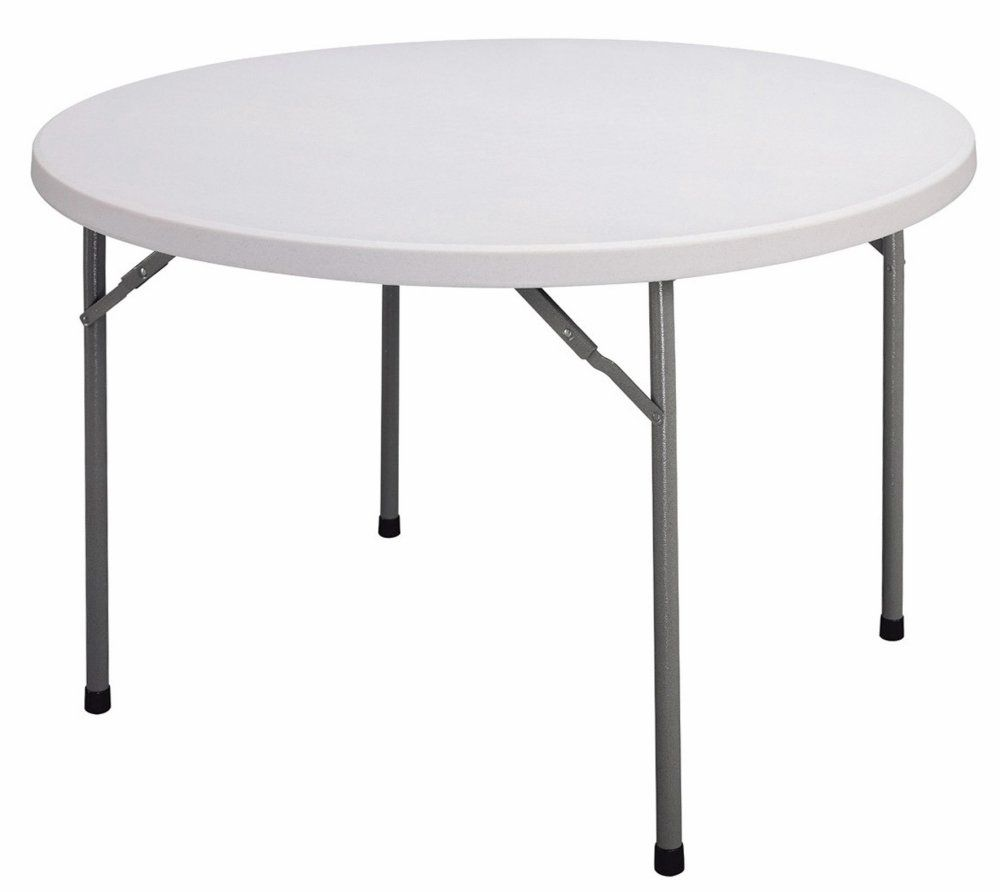 Correll Cp48 48 Round Blow Molded Plastic Folding Table Sale