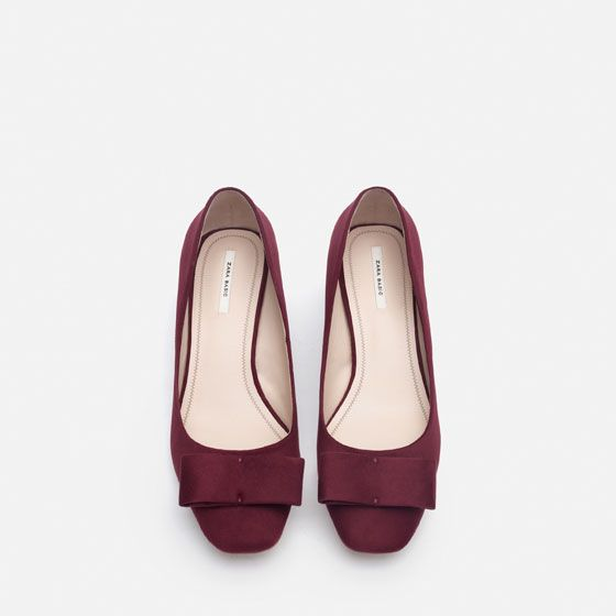 Image 5 of MEDIUM HEEL SHOES WITH BOW from Zara