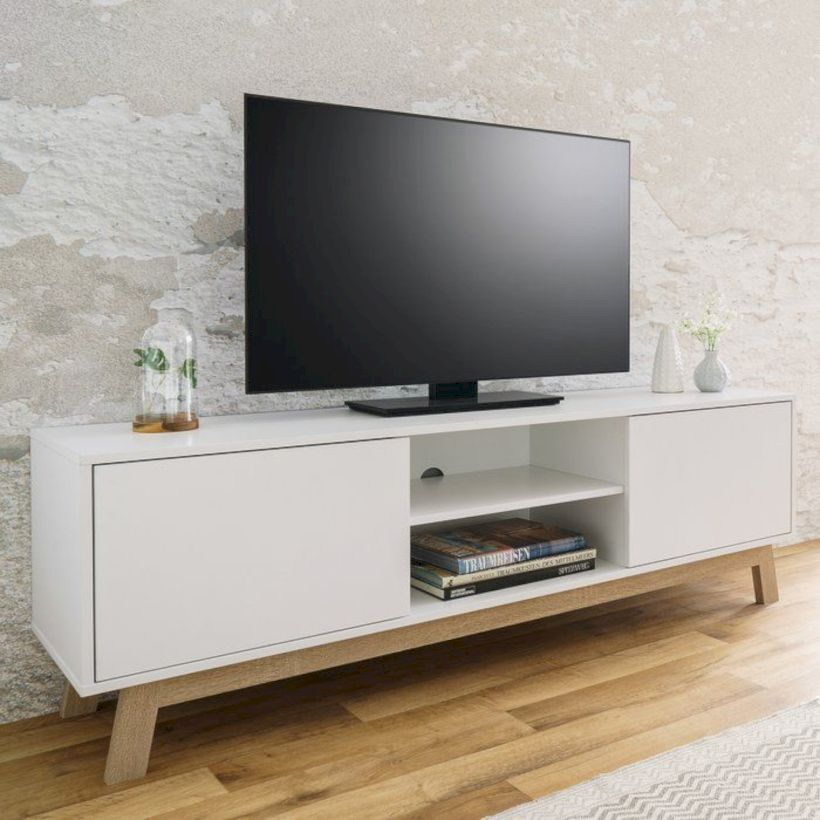 Nice 49 Fabulous Tv Stand Décor Ideas For Living Room More At Https Decoratrend Com 2019 04 28 49 Fabulo Tv Stand Decor White Tv Stands Living Room Tv Stand