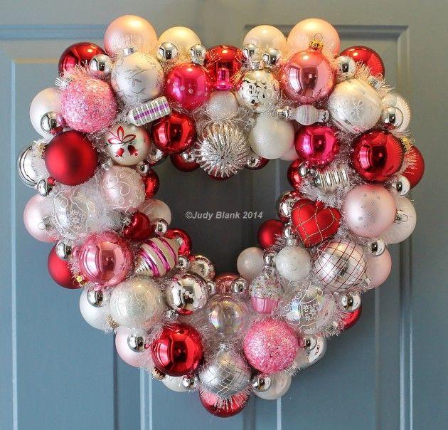 Amazing Valentine Wreath Part - 2: 28 Lovely Handmade Valentineu0027s Wreath Designs
