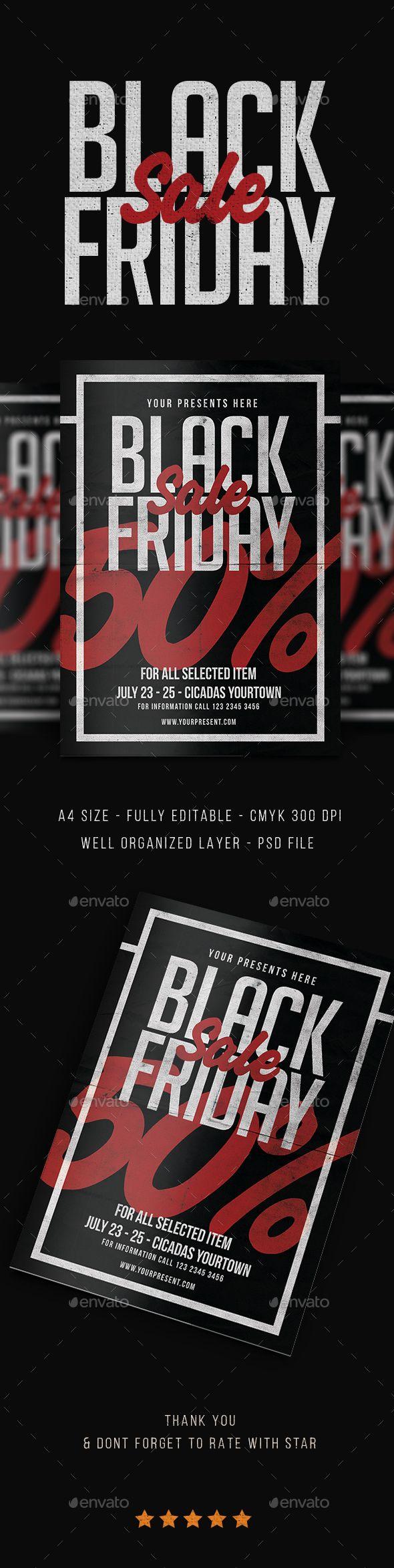 black friday sale flyer template psd bfs pinterest sale flyer