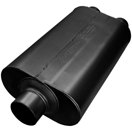 Flowmaster 8530552 Super 50 Muffler 409S - 3.00 Center In / 2.50 Dual Out - Mild Sound - Walmart.com