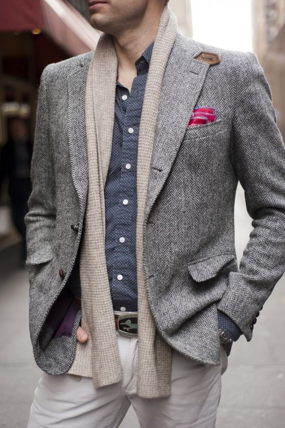 Simple yet elegant way to wear your scarf - Men's Fashion Blog - TheUnstitchd.com