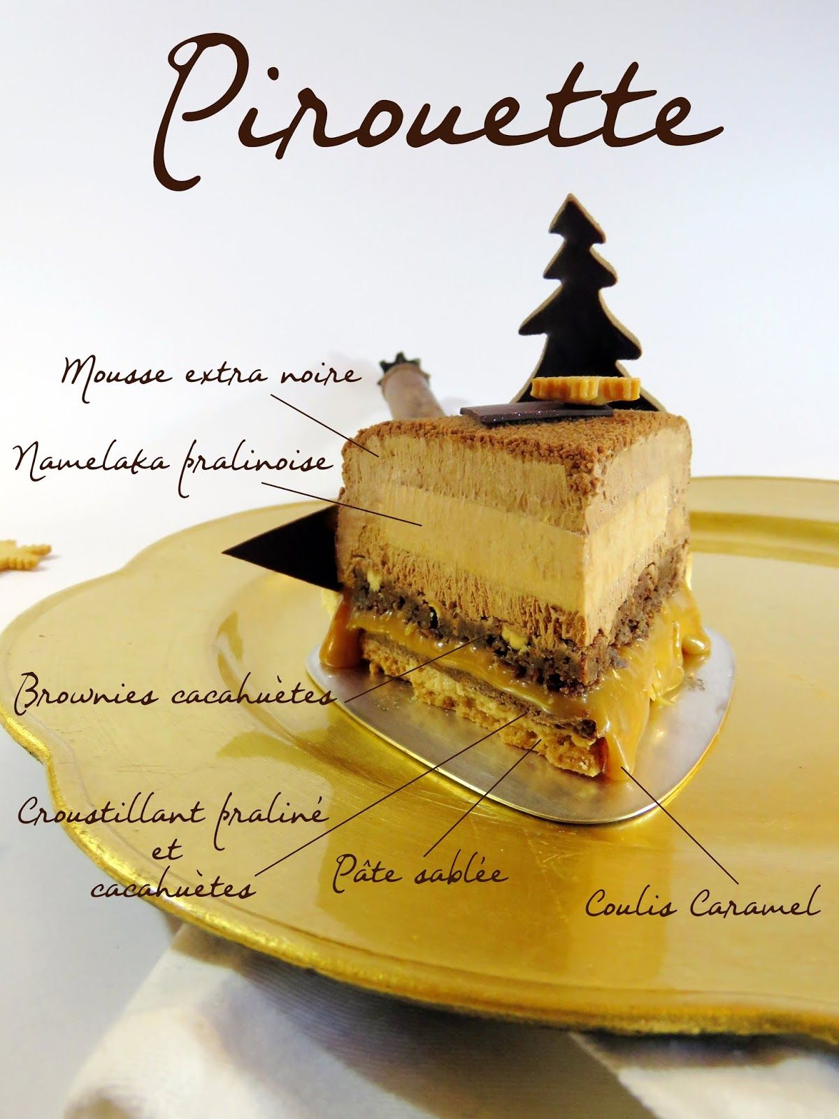 J'en reprendrai bien un bout...: novembre 2018 Schokolade, Praliné, Namelaka, Erdnuss, Karamell