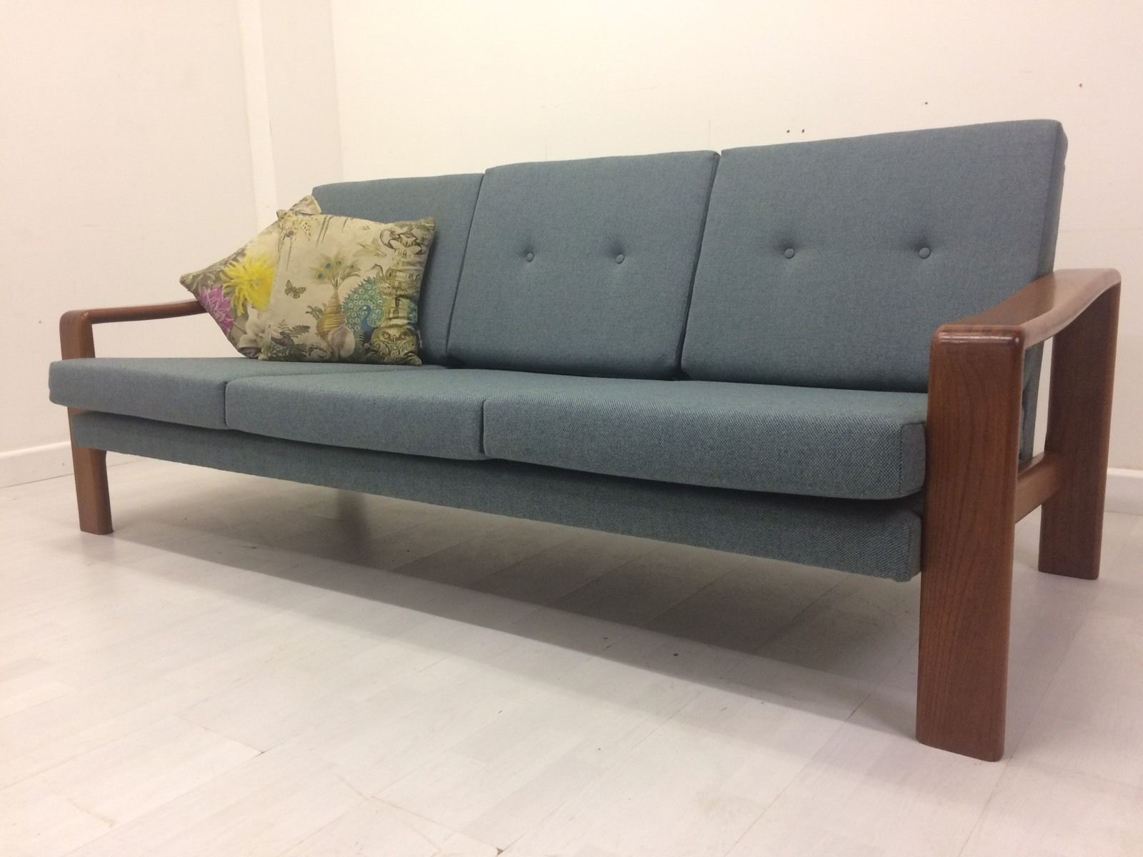 Bramin Danish 3 Str Teak Sofa Vintage 1950s 60s 70s Deco Antique  # Muebles Lozano Sofas