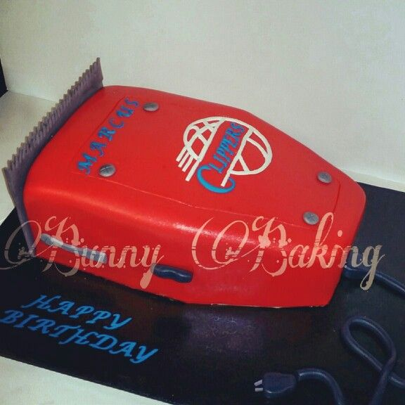 Clippers cake for a Clippers fan