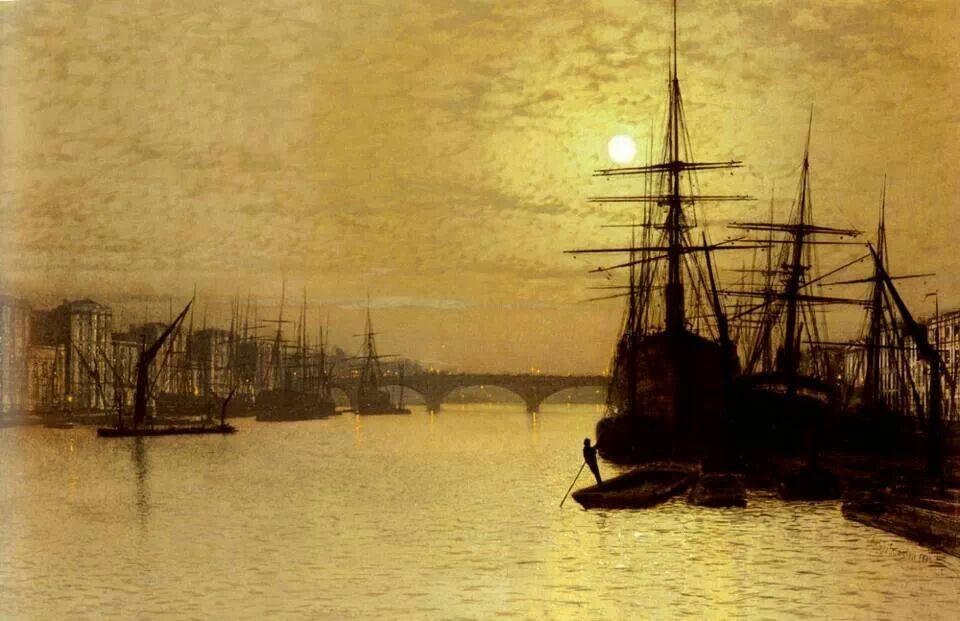 John Atkinson Grimshaw - The Thames Below London Bridge