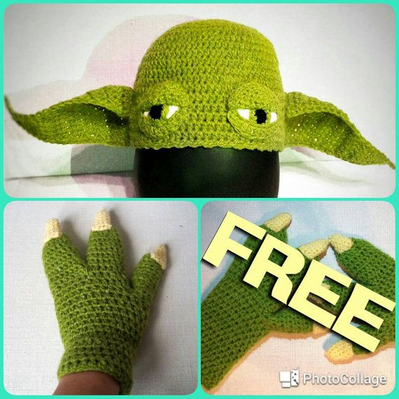 Yoda Hat Crochet Pattern Yoda Gloves Crochet Pattern Set Star