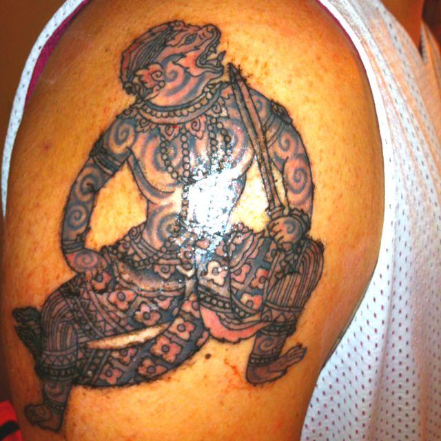 Cambodian Hanuman Tattoo My First Cambodian Tat...
