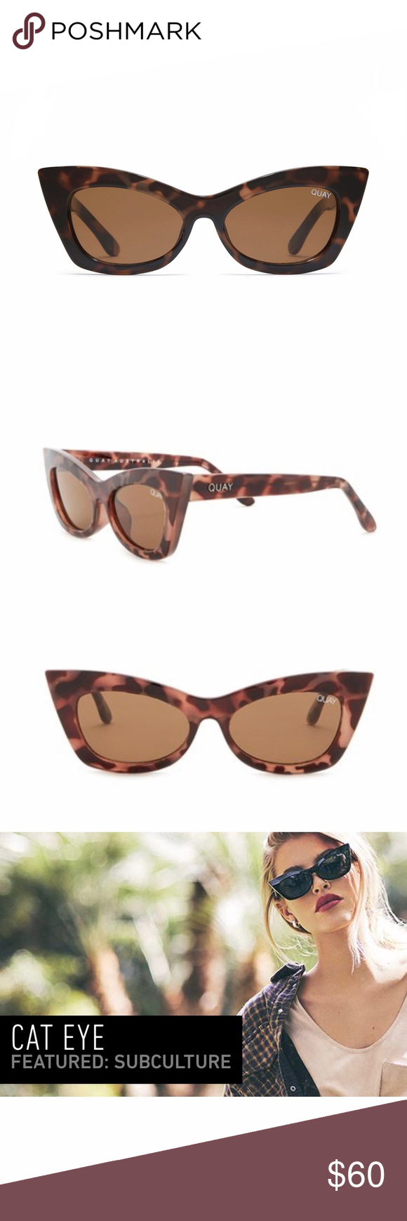 bf002e235c Quay Australia Subculture Sunglasses Channel a retro-inspired look with  this glamorous pair of cat
