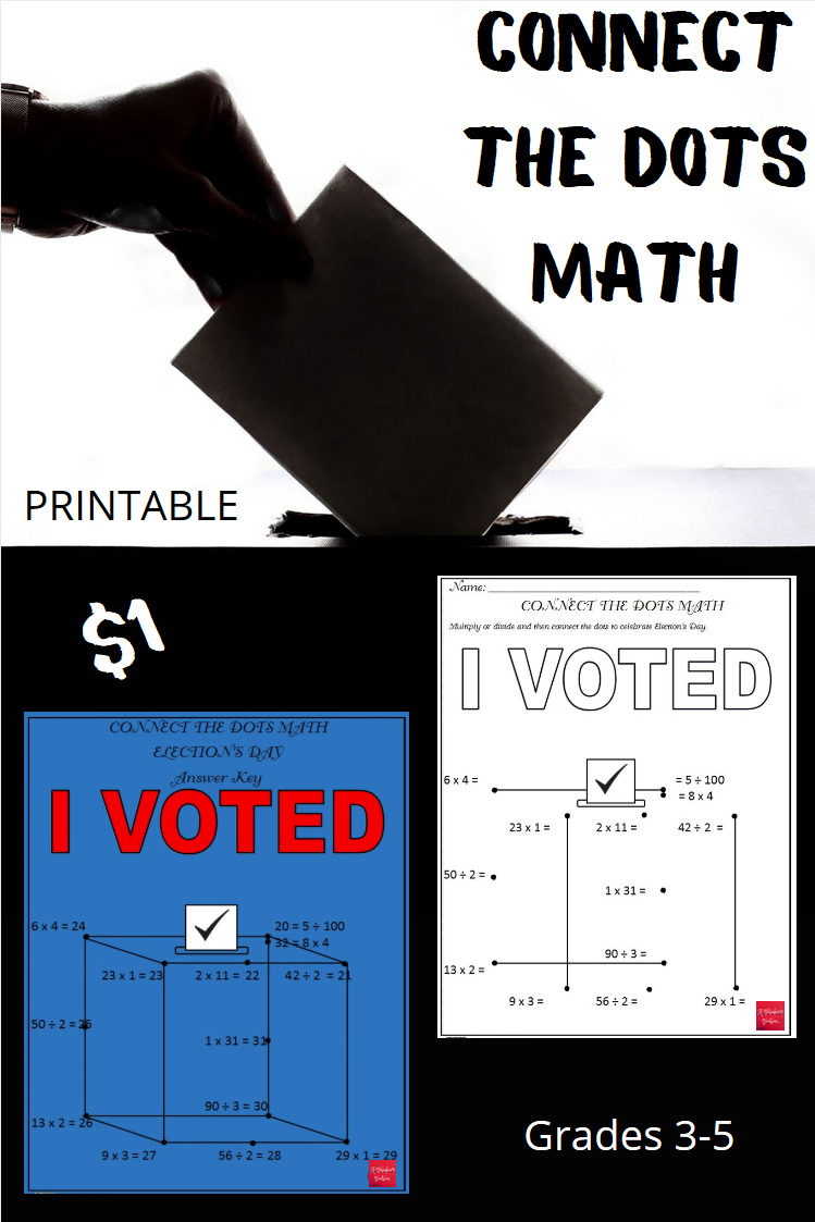 Election's Day - Connect the Dots Math   Math [ 1123 x 749 Pixel ]