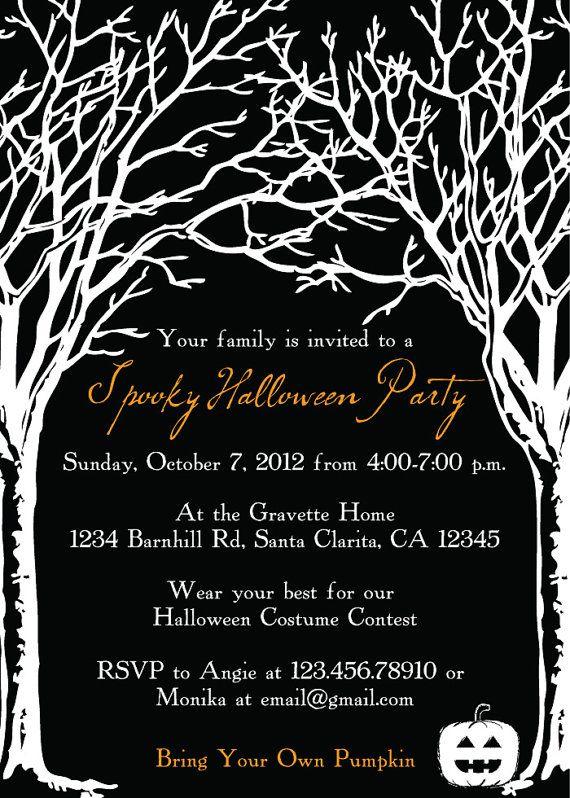 Spooky Tree Halloween Party Invitation . . . Really like this ...