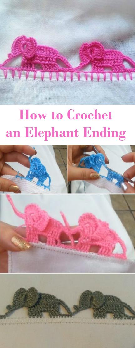 Crochet Elephant Ending | crochet | Pinterest | Orillas, Comunio y ...