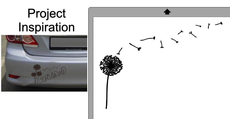 Did you know you can make your own custom diy car decal with vinyl its true and its dead easy i use this dandelion design to add a custom car decal