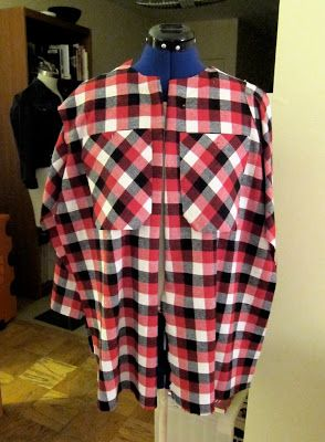 male pattern boldness: ...and awaaay we go! The men's flannel shirt project