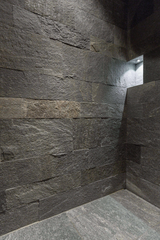 Naturstein Dusche Bei Der Dusche Im Badezimmer Wurde Der Boden Und