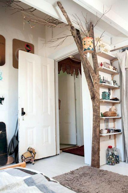 Un tronc d'arbre en déco intérieur | Deco & More | Bedroom, Kids