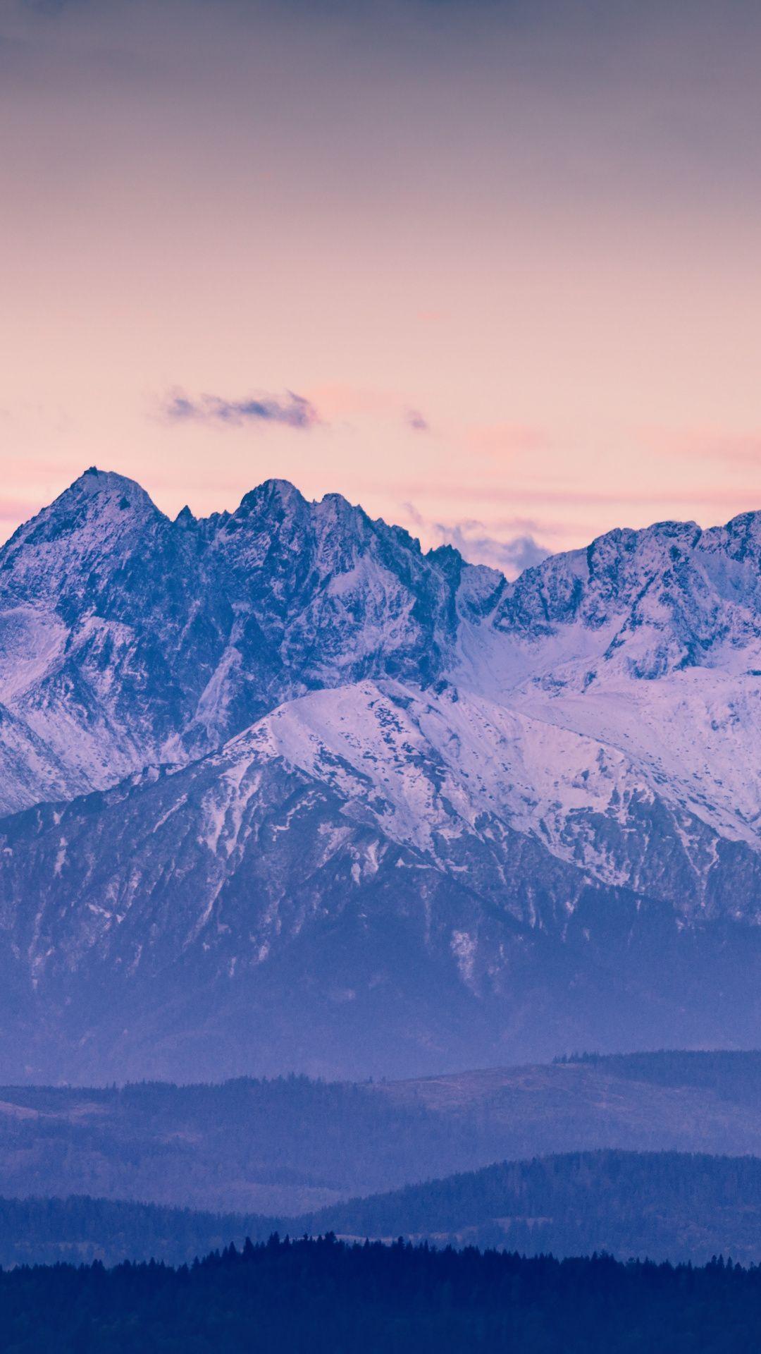 Sunrise, beautiful, mountains, nature wallpaper Nature