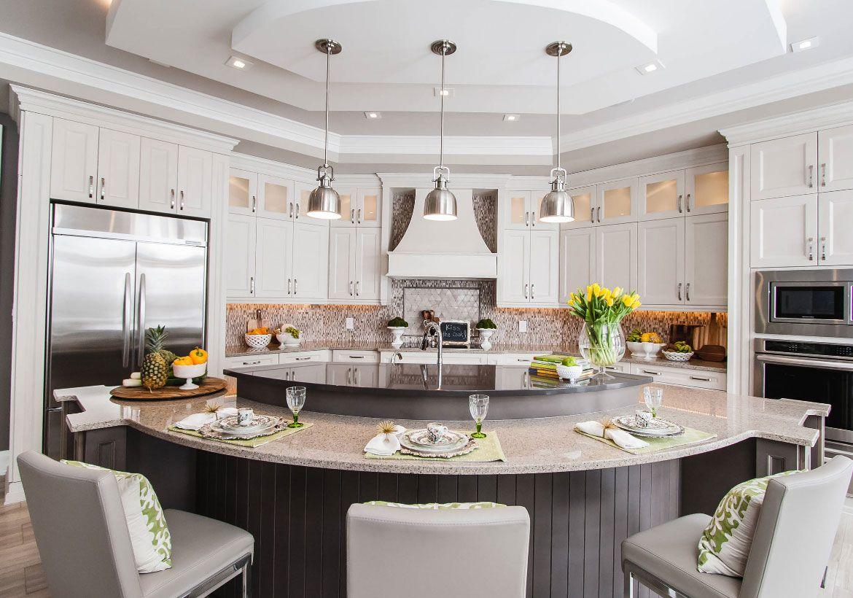 70 spectacular custom kitchen island ideas luxury kitchen design curved kitchen island home on kitchen island ideas eat in id=73556