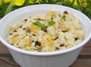 Couscous with Dried Apricots, Currants, and Pistachios