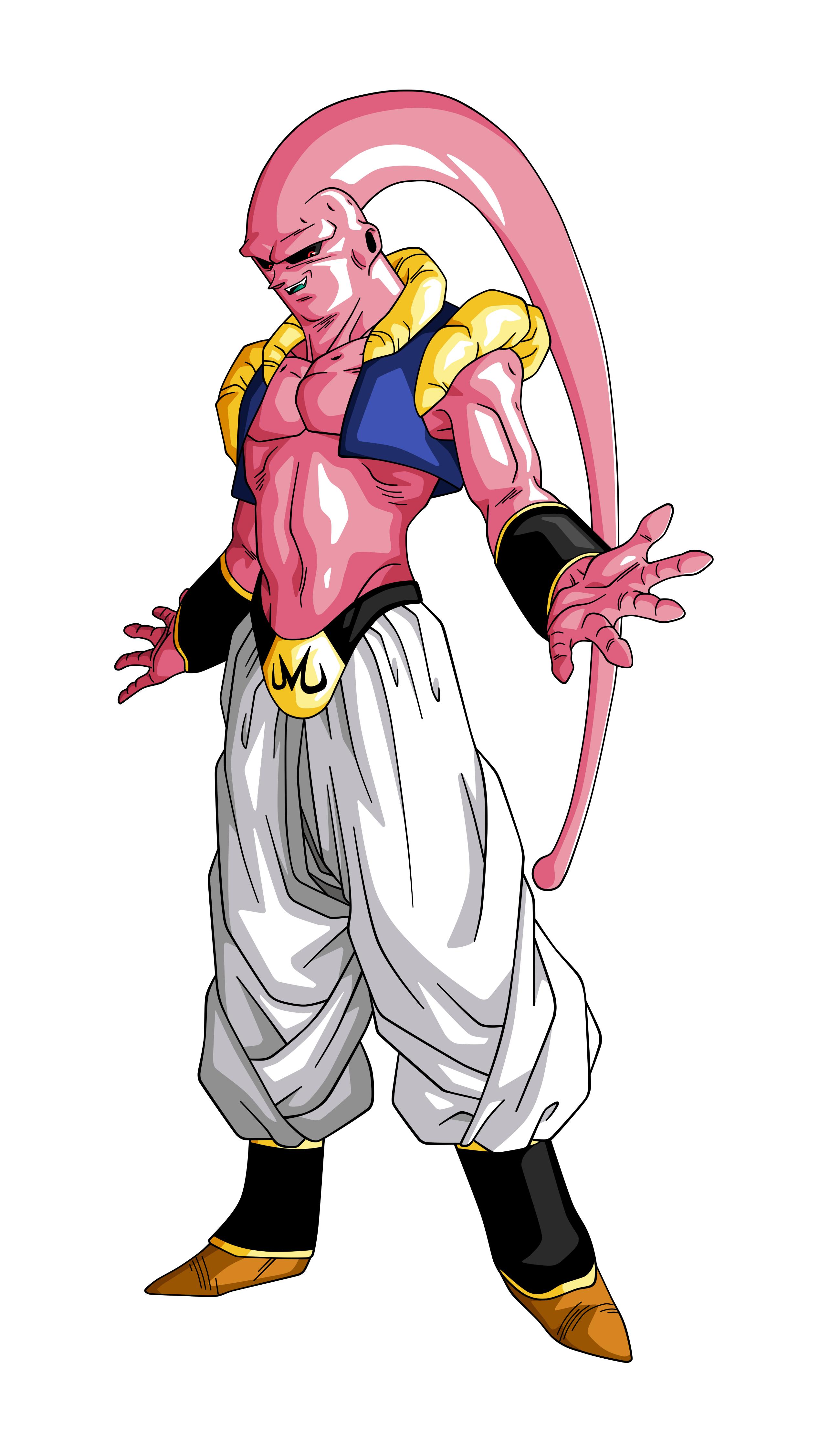 Majin Buu Gotenks Piccolo By Hyb1rd 1982 D9tv4c6 Png 2600 4500 Anime Dragon Ball Super Dragon Ball Super Goku Dragon Ball