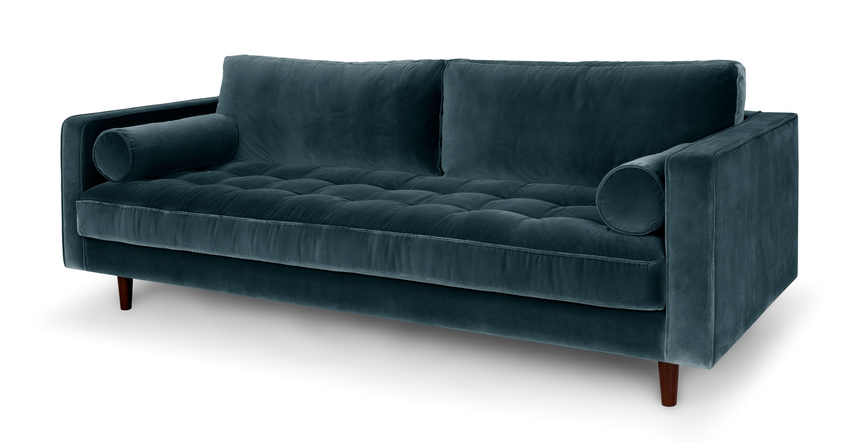 century furniture sofa quality chaise longue metro el corte ingles blue velvet tufted upholstered article sven