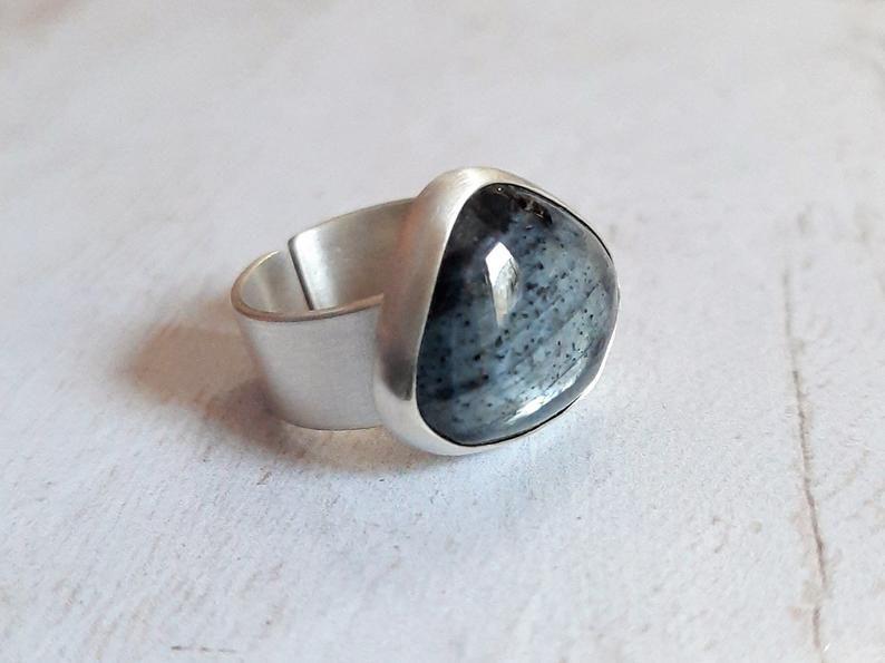 Asymmetrical Silver Ring handmade
