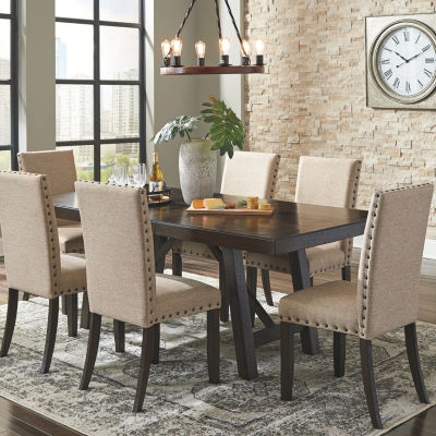 Buy Signature Design By Ashley Rokane 7pc Dining At Jcpenney Com Today And Get Your Penney S Worth F Casual Dining Rooms Luxury Dining Room Brown Dining Room