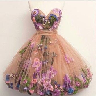 7aeabefcef dress flowers prom dress ball gown dress tumblr floral dress floral short dress  pink hipster short romantic fashion pretty homecoming dress tutu sweetheart  ...