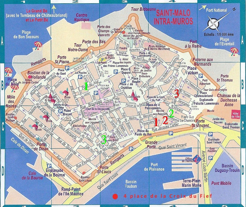 carte geographique de saint malo