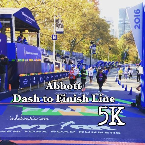 My Purple World : NYC Abbott Dash to Finish Line 5K