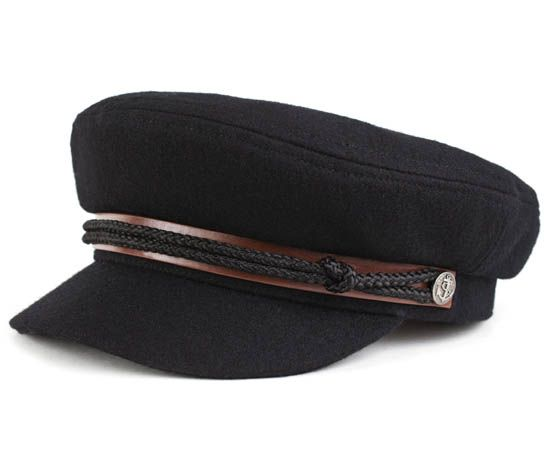eb7f226c3dc Fiddler Hat by Brixton- Black Melton