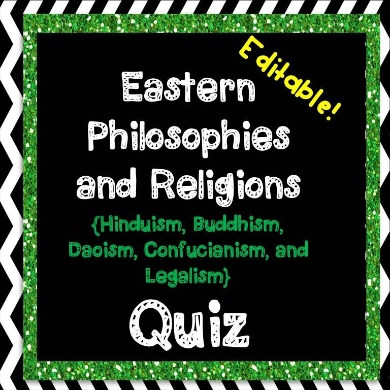 This Editable Quiz Covers Key Concepts From Hinduism Buddhism