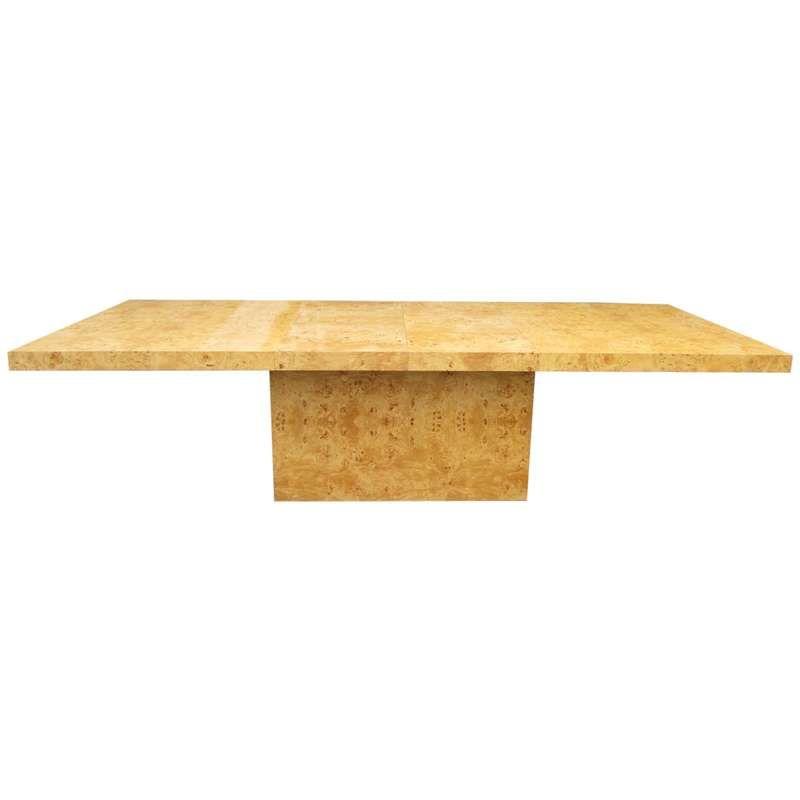 67eb0eb86e166 Mid-Century Modern Burlwood Dining Table designed by Milo Baughman For Sale