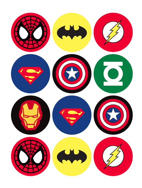 Superhero Badges Print