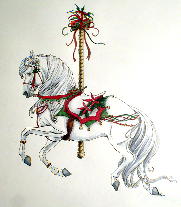 Christmas Horse Drawing.Image Result For Christmas Horse Drawing Holidays