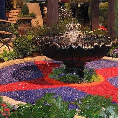 Nice Garden Glass Mulch! Love This As The Base Of Fountains And Under Plants
