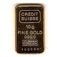 Credit Suisse 10 Gr Gold Bar 35 00 Gold Bar Silver Bars Silver Bullion