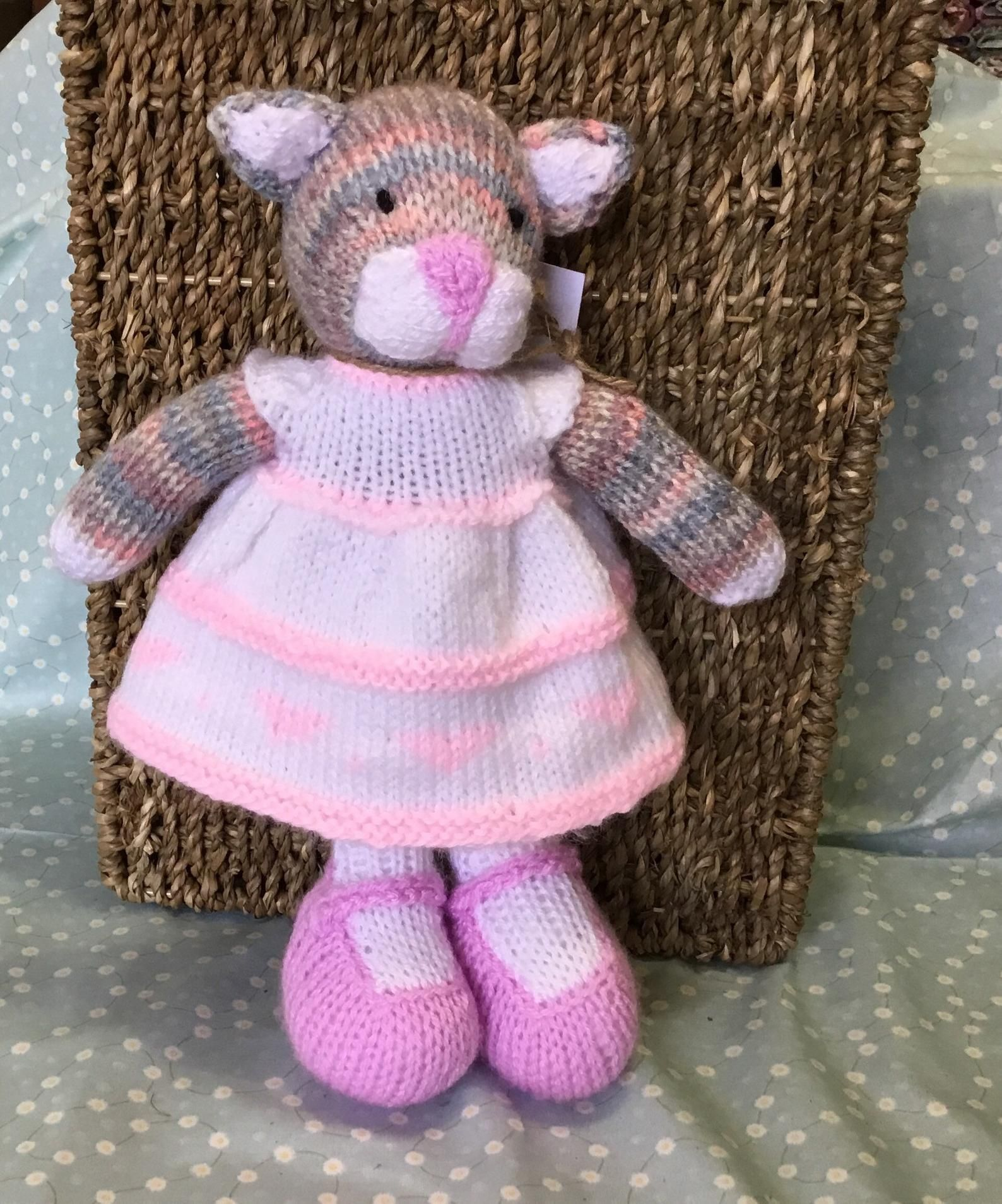KNITTING PATTERN DK Teddy Bear Toy Easy Knit 108