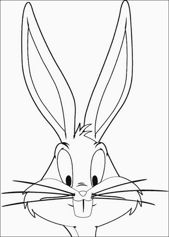 Bugs Bunny Coloring Page Coloring Pages Bunny Coloring Pages