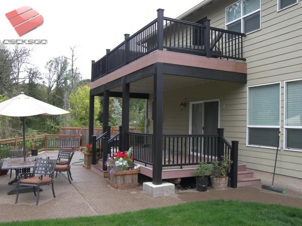 Double decker deck projects to try pinterest decking for Room design double deck