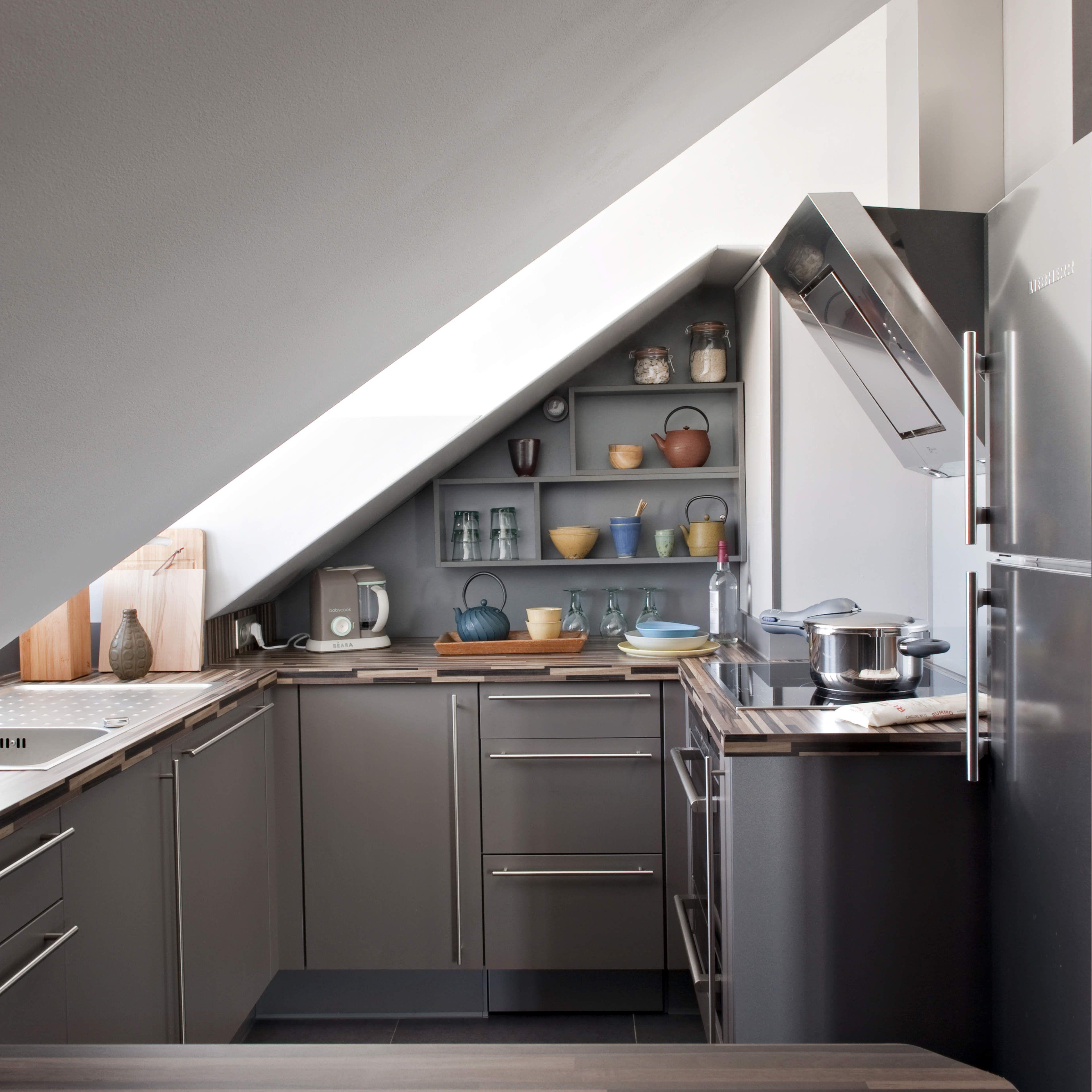17 Captivating Attic Kitchen Designs