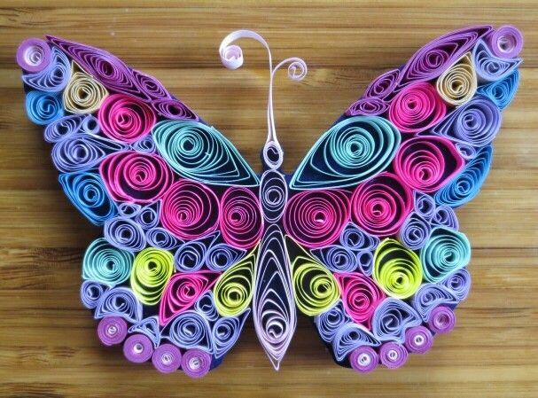 papillon magnet anniversaire pinterest bandes de papier la colle et aimants. Black Bedroom Furniture Sets. Home Design Ideas